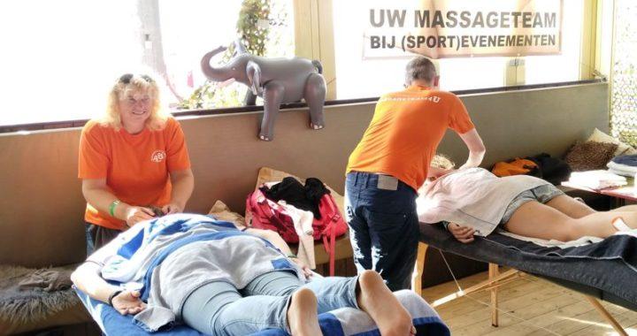 Massageteam4U bij de beachdag voor huisartsen 2018