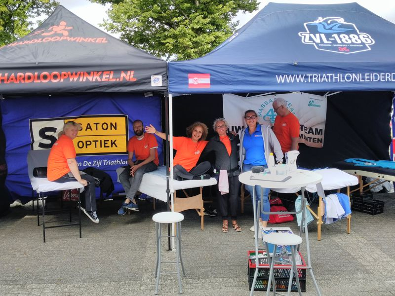 Massageteam4U bij triatlon Leiderdorp 2019