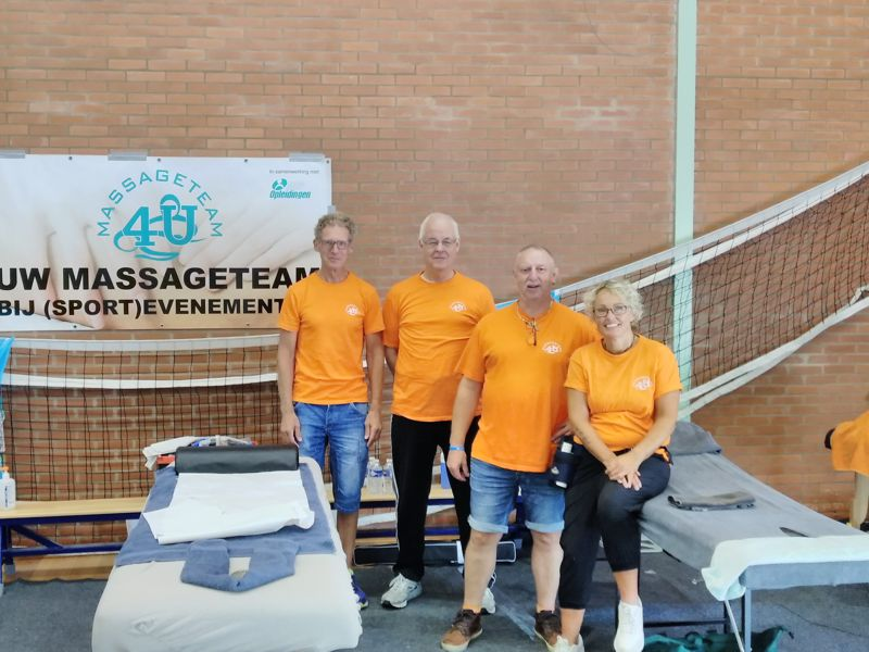 Massageteam4U bij Vlietloop 2019